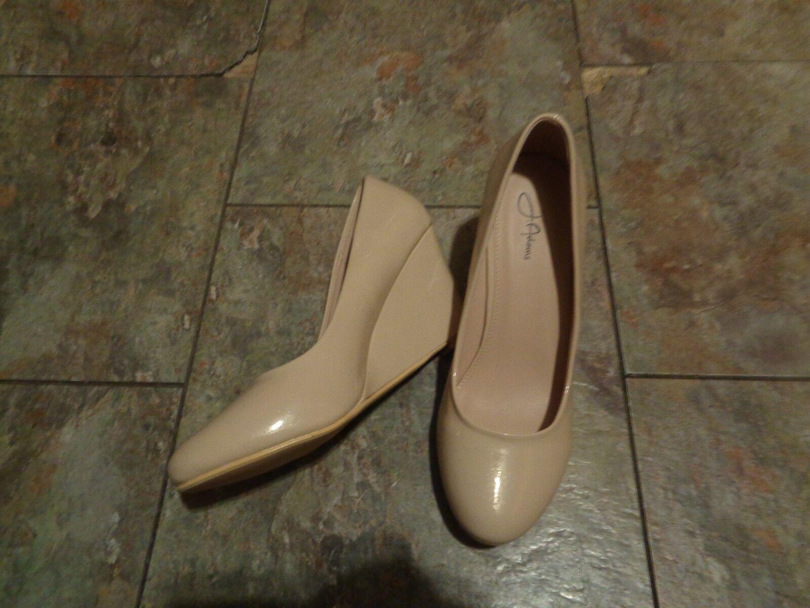 j adams heels nude rounded toe wedge heels adams shoes size 10 3f796e