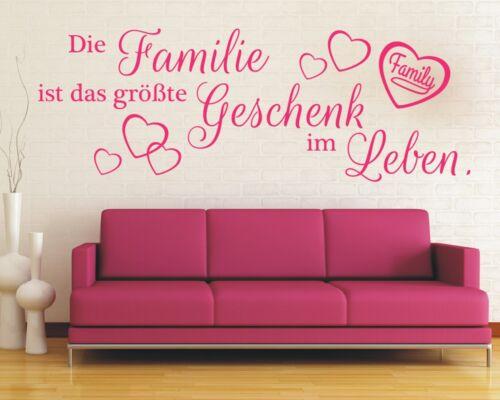X5 murales hechizo-la familia es el mayor regalo en la vida pegatinas