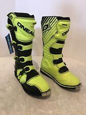 47 EU O/'Neal Rider Shorty Off-Road MX ATV Dirt Boots Black Size 13 US