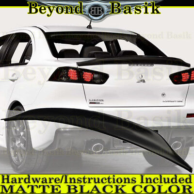2008-2017 Mitsubishi Lancer EVO X MATTE BLACK OEM Factory Style Spoiler Wing