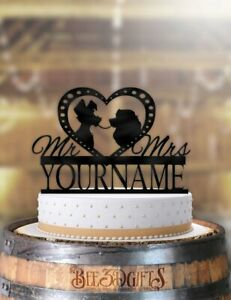 Personalized Lady And The Tramp Profile Cake Topper Ebay