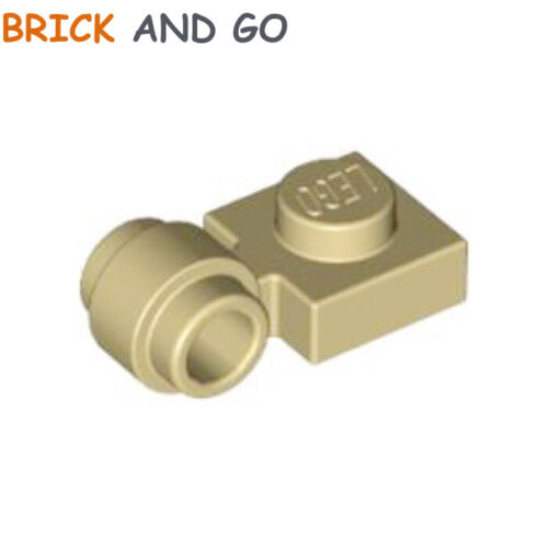 4 X LEGO 4081 Plate Ring Flat 1x1 Clip Ring Holder new New Beige, Tan
