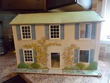 Vintage Today's Kids Tin Metal Doll House Two Story Rosewood Manor