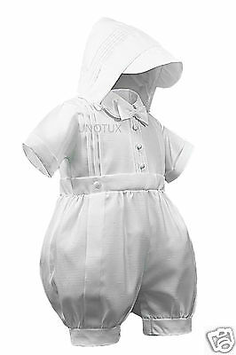 Collection Here New Infant Boy Toddler Plain Short Romper 4 Christening Baptism White 0m-30m