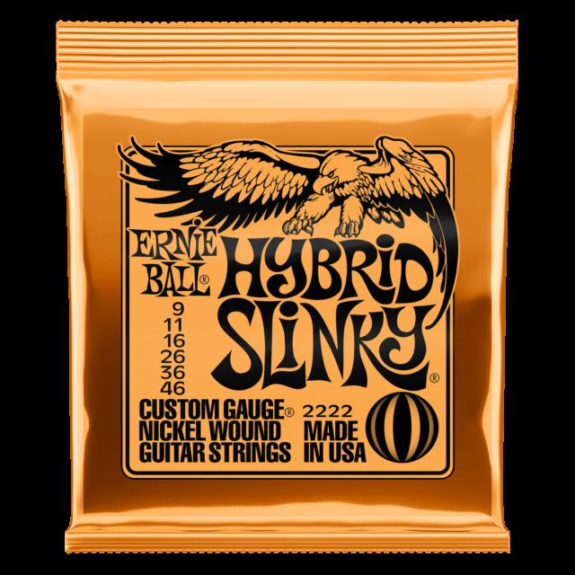Ernie Ball Corde per Chitarra 2222 - Nichel Rivestito - Hybrid Slinky -