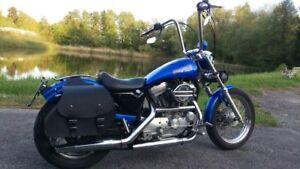 Sportster-48-1200-883-Seitentaschen-iron-ARES-BLACK-Geschenkidee-Harley-Davidson