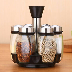 7PC-Jar-Rotating-Spice-Rack-Carousel-Storage-Holder-Condiments-Kitchen-Container