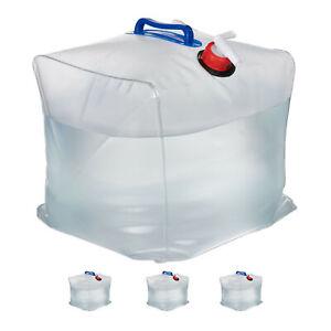 4x Wasserkanister faltbar Kanister 20L Faltkanister Wasserbehälter Trinkkaniste