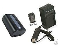 Battery +charger For Sony Dcr-sx63es Dcr-sx73 Dcr-sx73e