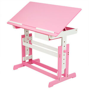 Image Is Loading Kids Height Adjule Tilting Homework Writing Table Study