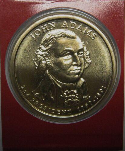 2007-D John Adams Presidential Dollar Satin GEM BU in Mint Set Cello
