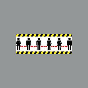 Aufkleber 20cm Sticker Bitte Corona Personen Abstand halten 4061963059678