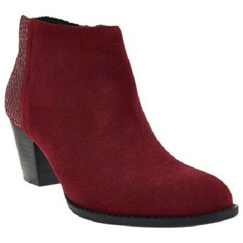 Vionic Orthotic Leather Ankle Boots - Bromley - Wine