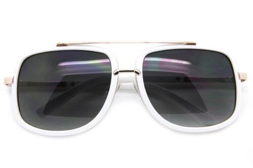 Square Oversized Fashion Sunglasses Smoke /& Mirr Lens Men Women Designer Frames