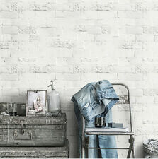 Faux Brick Peel and Stick Wallpaper White Self Adhesive Contactpaper wall decor
