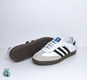 Image is loading adidas-Samba-OG-White-Brown-Black-Tan-Bz0057- 67886178ce4c