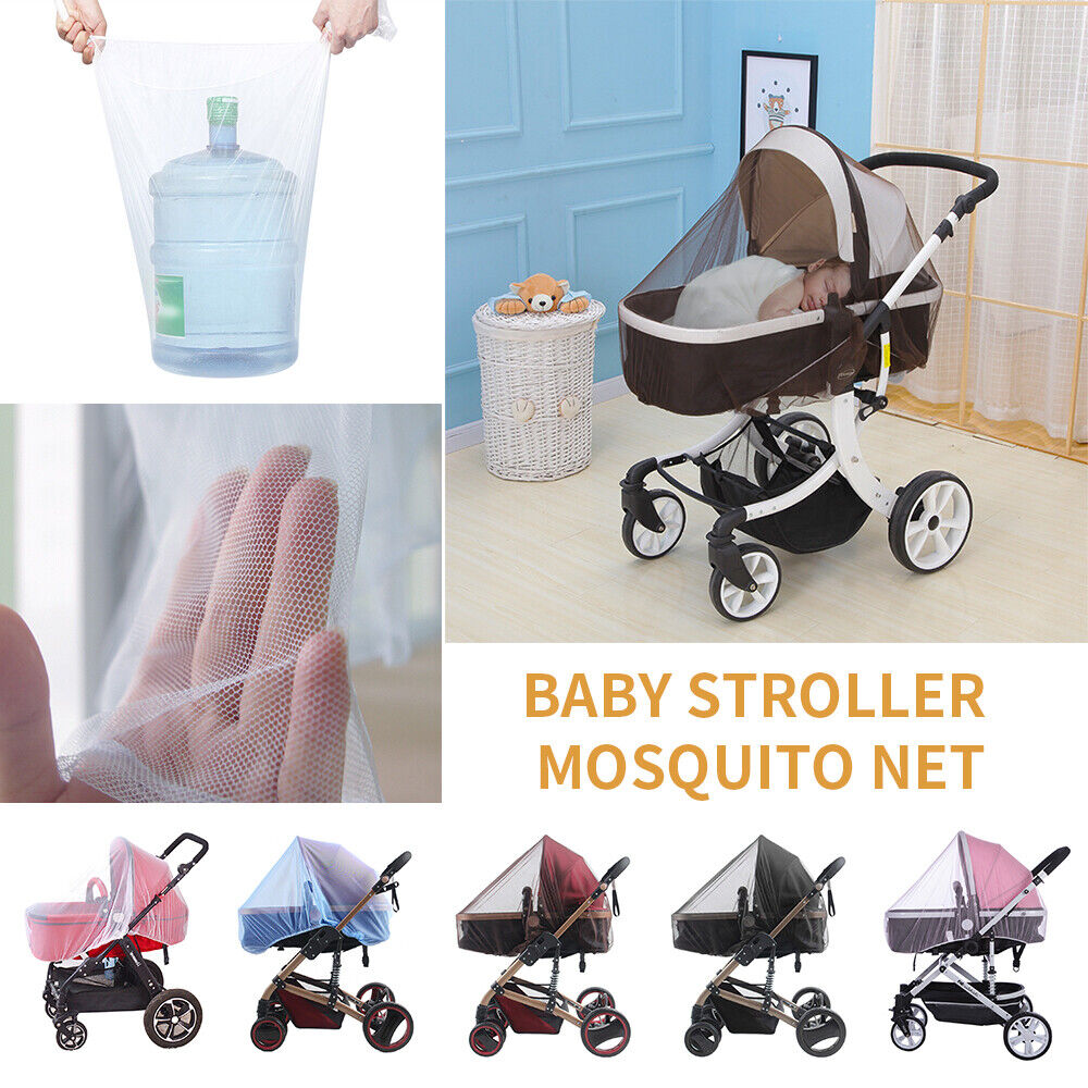 Baby Stroller Pushchair Pram Mosquito Fly Insect Net Mesh Buggy Cover for Infant