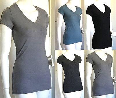 T-shirt Maglietta Donna Nadia Fassi Br.swarov. Nero Grigio Blu B169 Xs S M L Xl Grande Liquidazione