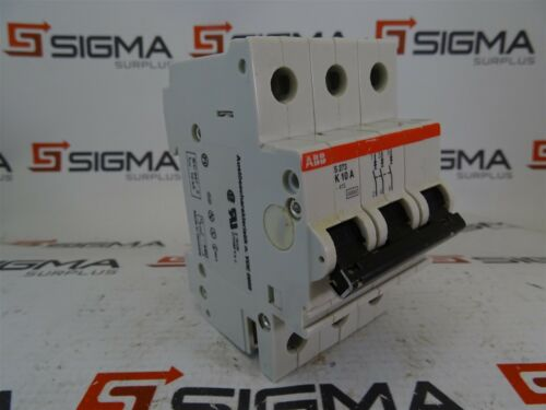 ABB S273 K10A Circuit Breaker 3-Pole