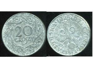 POLOGNE-20-groszy-1923-zinc