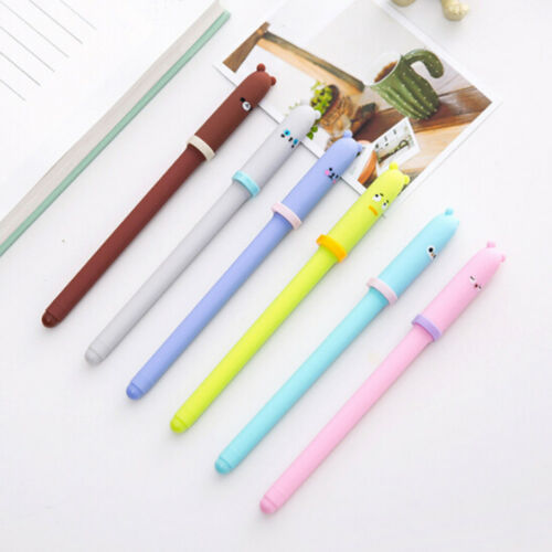 2Pcs Cute Animal Expression Black Ink Gel Pen Stationery Office School Supplies