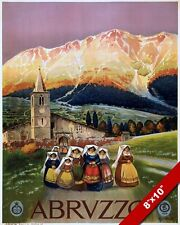 ABRUZZO TERAMO ITALY ITALIAN TRAVEL POSTER PAINTING ART GICLEE REAL CANVAS PRINT