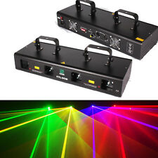 460mW RGPY 4 Lens 4 Beam Laser Light DMX 7CH Disco Stage Lighting Party Show