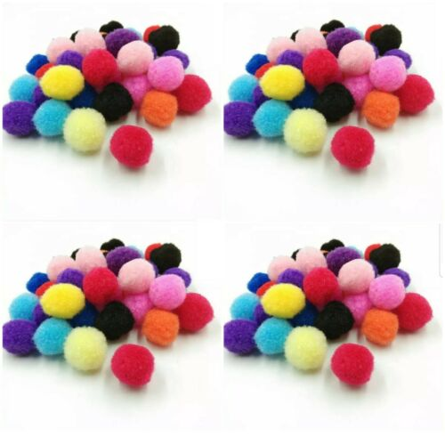 Pom Poms Craft Card Making 10mm Mixed Colours Kids Quality Crafts