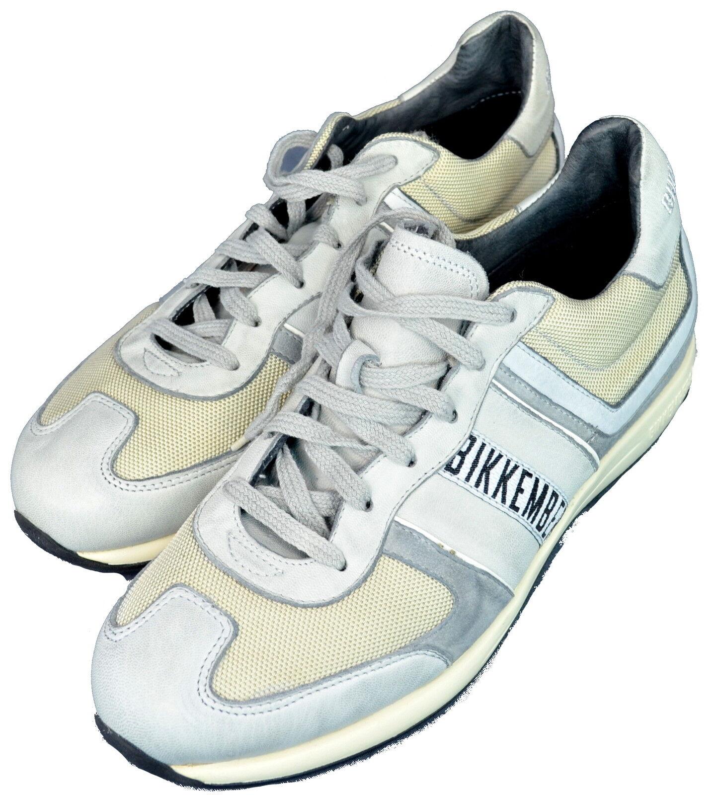 Herrenschuhe schwarz/Creme/grogio Leder Leder Leder und Stoff Bikkembergs Schuhe Mann black/ 3632d3