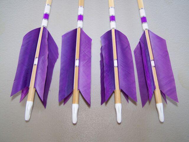 4 New Cedar Wood Traditional ARCHERY   Arrows LONG BOW  FLU-FLU 50//55