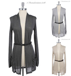 Belted-Long-Sleeve-Long-Open-Cardigan-with-Side-Pockets-VARIOUS-COLOR-and-SIZE
