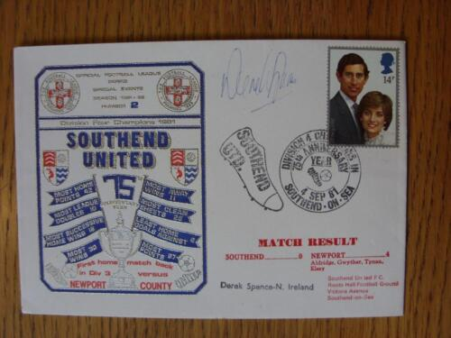 04091981 Commemorative Cover Southend United v Newport County Hand Signed On