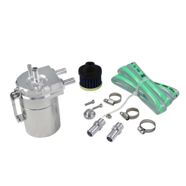 Baffled Universal Aluminum Oil Catch Tank/Can Reservoir Tank SILVER