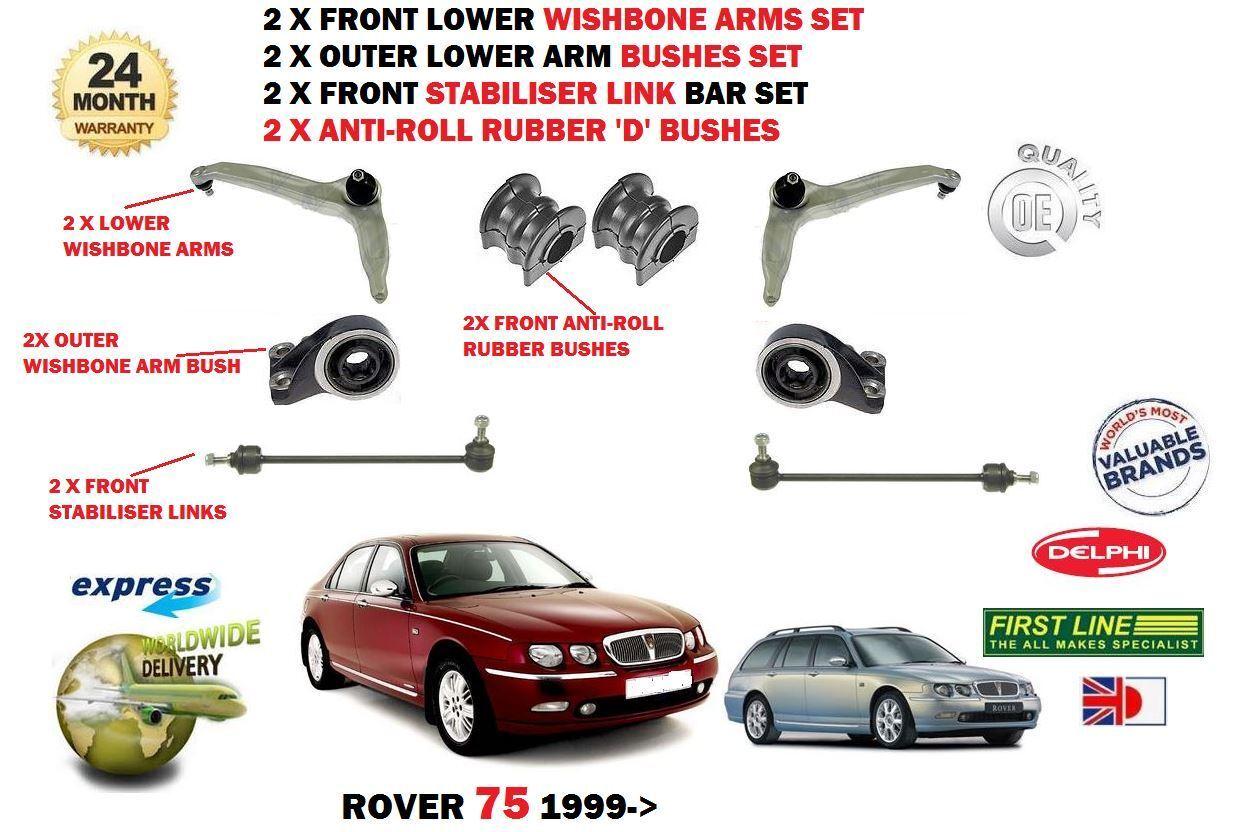 Für Rover 75 1999-   2 X Vorderachse Querlenker Stabilisator Verbindung Stangen