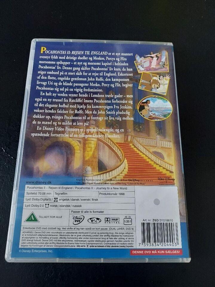 Pocahontas 2, instruktør Disney, DVD