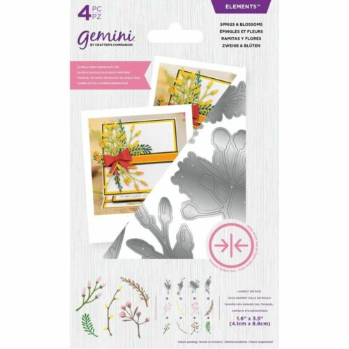 Crafter/'s Companion Paper Craft Double-Sided Die Elements Sprigs /& Blossoms
