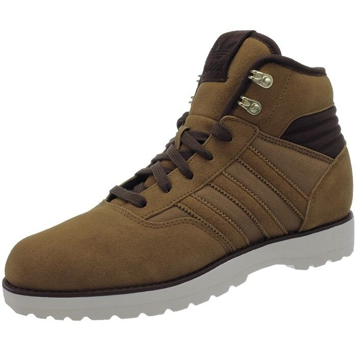 Adidas NAVVY 2.0 men's boots brown sneakers casual shoes suede canvas NEW