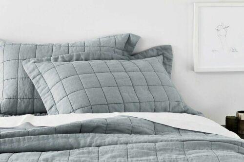 Sheridan Abbotson Belgian Linen Bed Cover Pewter