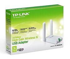 TP-LINK TL-WN822N Wireless N300 High Gain USB Adapter, 300Mbps, External Antenna
