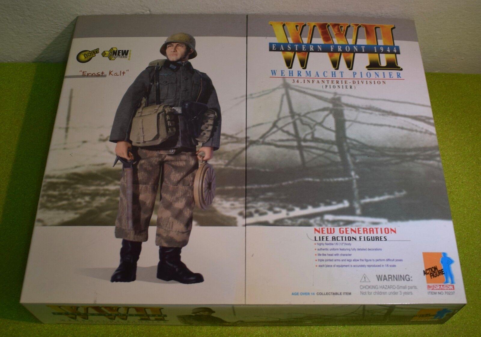 DRAGON 1/6 SCALE WW II GERMAN ERNST KALT WEHRMACHT PIONIER EASTERN FRONT 1944