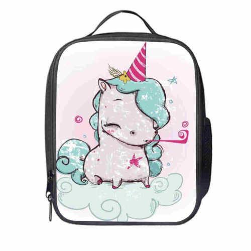 UK Unicorn Insulated Lunch Bag Box Pack Childrens Boys Girls School Food Picnic
