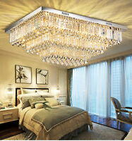 Hot Sell  Modern K9 Clear Crystal Ceiling Light Pendant Lamp Chandelier Lighting