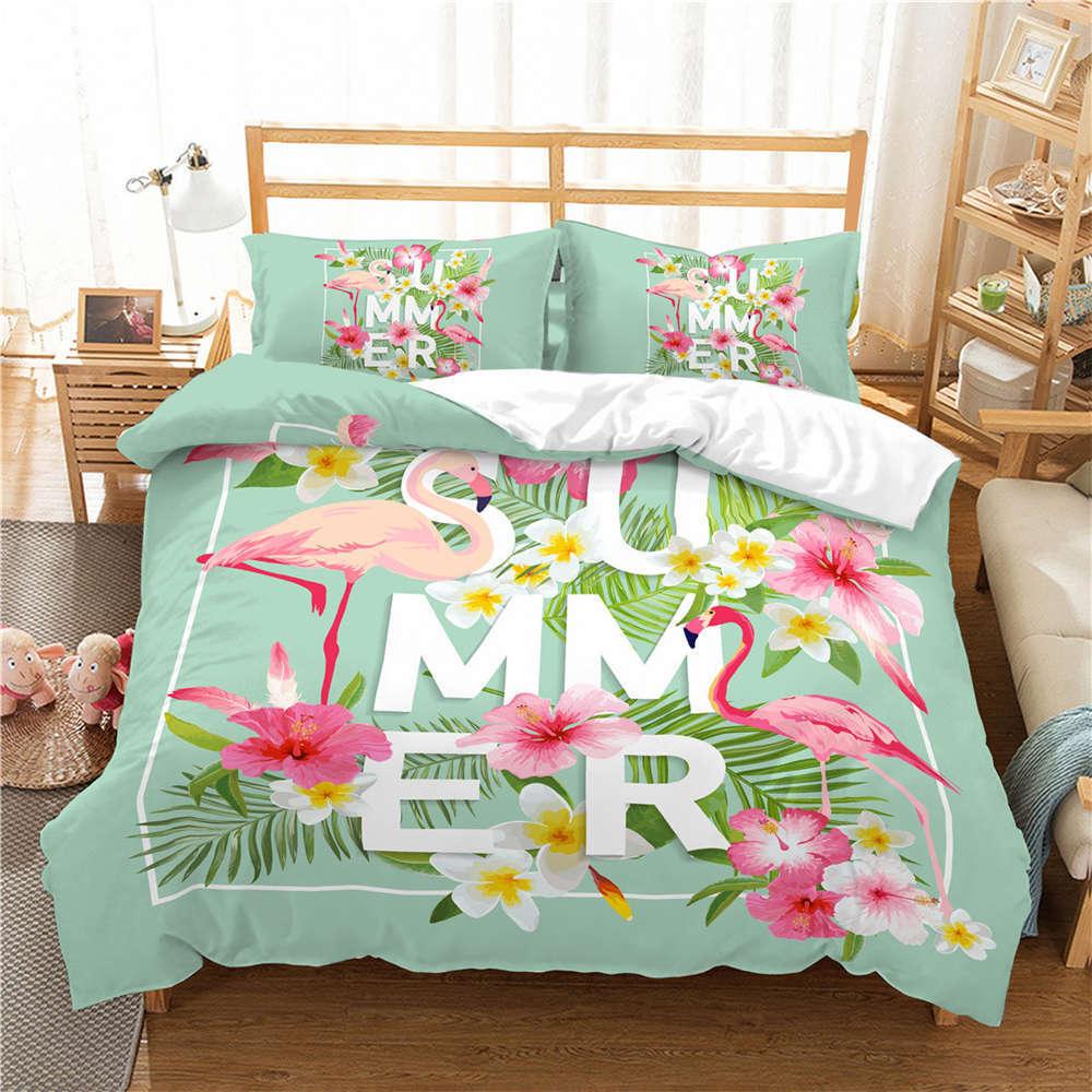 Birds' Twitter Fragrance 3D Digital Print Bedding Duvet Quilt Cover Pillowcase