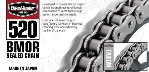 BikeMaster 520BMOR-120//GG 520 BMOR Series Chain 120 Gold