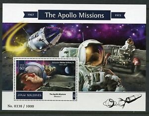 MALDIVES-2015-THE-APOLLO-MISSIONS-SOUVENIR-SHEET-MINT-NEVER-HINGED