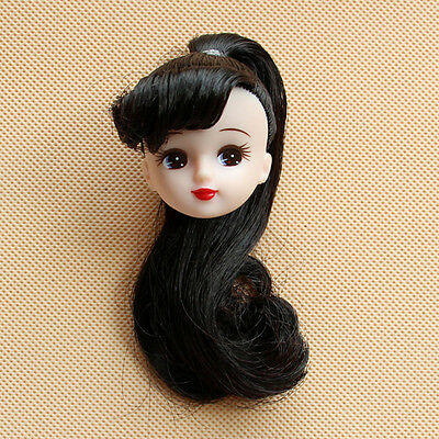 2017 Head for Licca Doll Black Color Red Lips Doll Accessories Gift