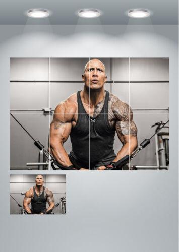 Dwayne The Rock Johnson Muscle Gym Large Poster Art Print