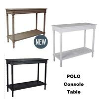 Polo Wooden Console Hall Table French Living Room Furniture Black White Oak