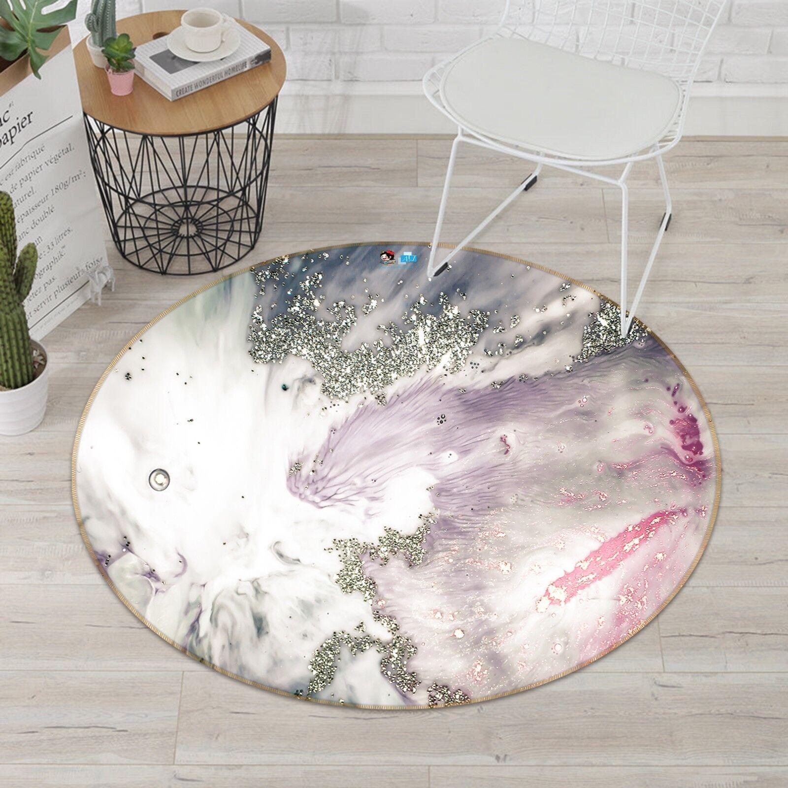 3D Viola Fiamma Perline 56 antiscivolo tappeto camera Tappetino Tondo Qualità Elegante Tappeto foto