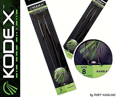 Barbed And Barbless Bottom//Pop Up Various Sizes Kodex Anti Tangle Braid Rigs